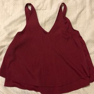 Red wine tank top
